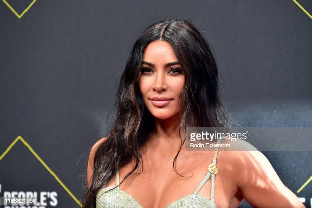 Kim Kardashian attends the 2019 E! People's Choice Awards at Barker Hangar on November 10, 2019 in Santa Monica, California.