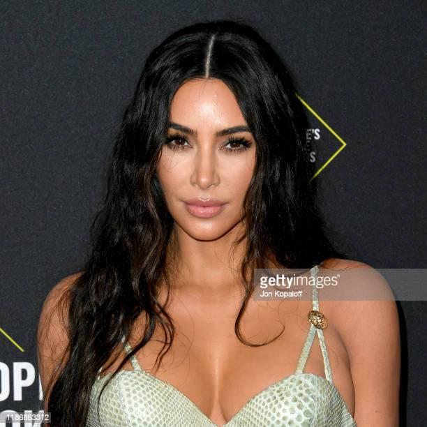 Kim Kardashian attends the 2019 E! People's Choice Awards at Barker Hangar on November 10, 2019 in Santa Monica, California.