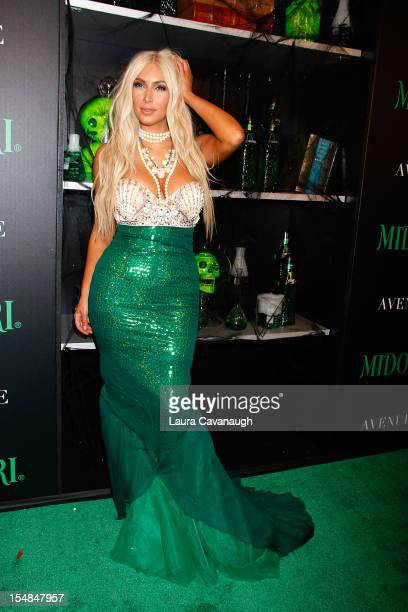 Kim Kardashian attends the 2nd annual Midori Green Halloween party at Avenue on October 27 2012 in New York City