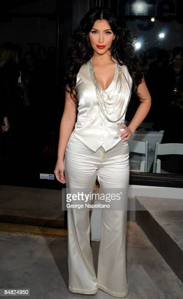 Kim Kardashian attends the Alice Olivia presentation during MercedesBenz Fashion Week Fall 2009 on February 16 2009 in New York City