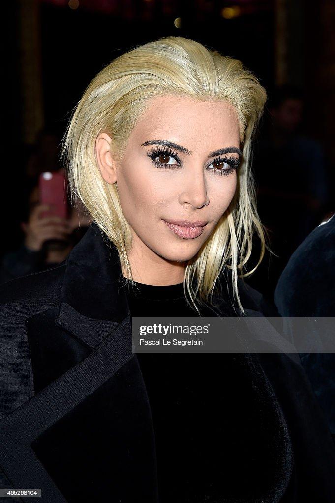 Kim Kardashian attends the Balmain show as part of the Paris Fashion Week Womenswear Fall/Winter 2015/2016 on March 5, 2015 in Paris, France.