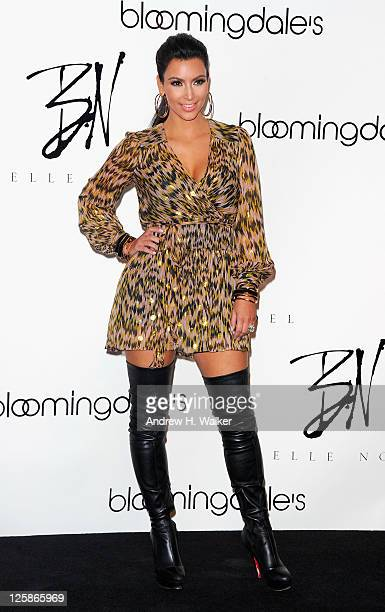 Kim Kardashian attends the Belle Noel jewelry collection launch at Bloomingdale's 59th Street Store on September 21 2011 in New York City
