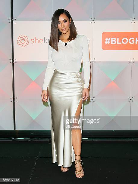 Kim Kardashian attends the #BlogHer16 Experts Among Us Conference on August 5 2016 in Los Angeles California