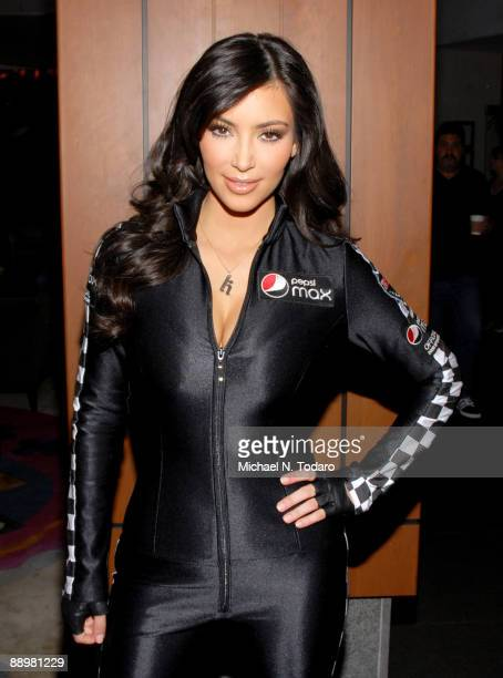 Kim Kardashian attends the Bullrun Rally 2009 Green Flag Rally Start Event at the Hotel Gansevoort on July 11 2009 in New York City