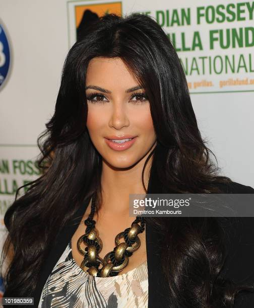 Kim Kardashian attends the Celebrity Skee Ball Tournament benefiting the Dian Fossey Gorilla Fund International at Dave Buster's Time Square on June...