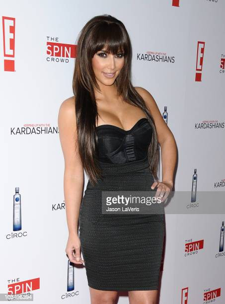 """Kim Kardashian attends the Comcast premiere party for """"Keeping Up With The Kardashians"""" at Trousdale on August 19, 2010 in West Hollywood, California."""