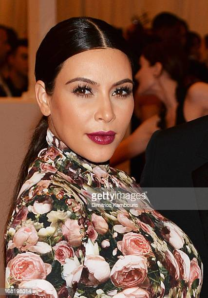 Kim Kardashian attends the Costume Institute Gala for the PUNK Chaos to Couture exhibition at the Metropolitan Museum of Art on May 6 2013 in New...