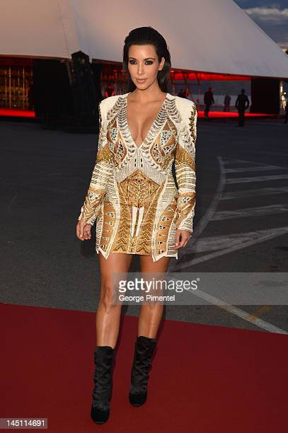 Kim Kardashian attends the 'Cruel Summer' Premiere during the 65th Annual Cannes Film Festival at Palm Beach on May 23 2012 in Cannes France