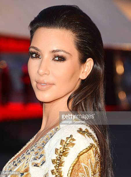 Kim Kardashian attends the Cruel Summer Premiere during the 65th Annual Cannes Film Festival at Palm Beach on May 23 2012 in Cannes France