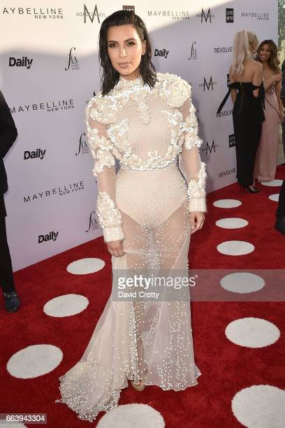 Kim Kardashian attends the Daily Front Row's 3rd Annual Fashion Los Angeles Awards - Arrivals at Sunset Tower Hotel on April 2, 2017 in West...