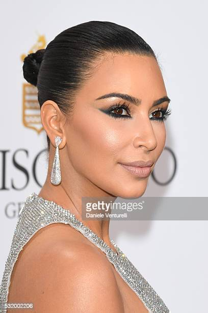 Kim Kardashian attends the De Grisogono Party at the annual 69th Cannes Film Festival at Hotel du Cap-Eden-Roc on May 17, 2016 in Cap d'Antibes,...