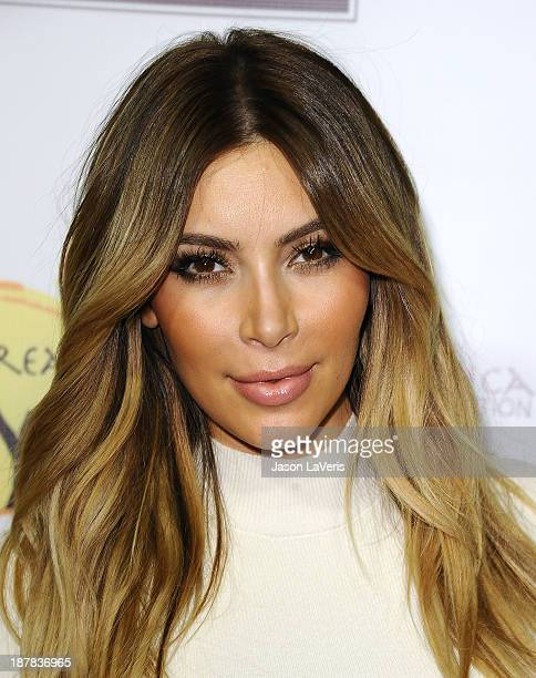 Kim Kardashian attends the Dream For Future Africa Foundation gala at Spago on October 24, 2013 in Beverly Hills, California.