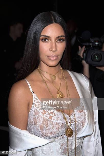 Kim Kardashian attends the Givenchy show as part of the Paris Fashion Week Womenswear Spring/Summer 2017 on October 2 2016 in Paris France