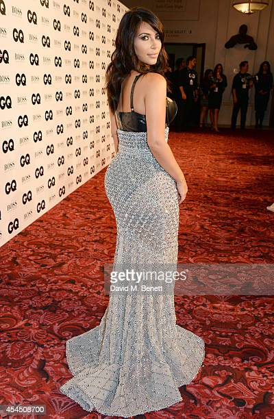 Kim Kardashian attends the GQ Men Of The Year awards in association with Hugo Boss at The Royal Opera House on September 2 2014 in London England