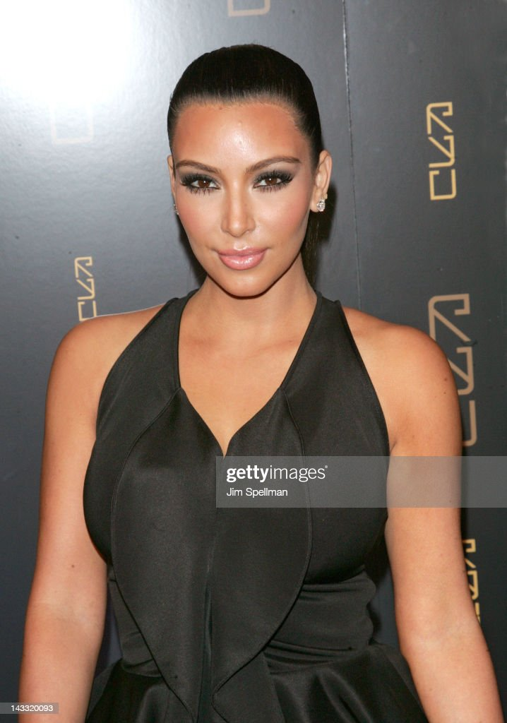Kim Kardashian attends the grand opening of RYU on April 23, 2012 in New York City.