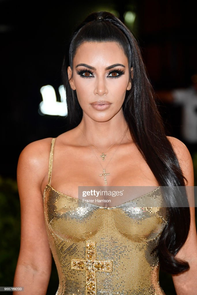 Kim Kardashian attends the Heavenly Bodies: Fashion & The Catholic Imagination Costume Institute Gala at The Metropolitan Museum of Art on May 7, 2018 in New York City.