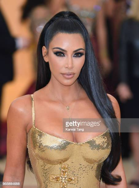 Kim Kardashian attends the Heavenly Bodies Fashion The Catholic Imagination Costume Institute Gala at Metropolitan Museum of Art on May 7 2018 in New...