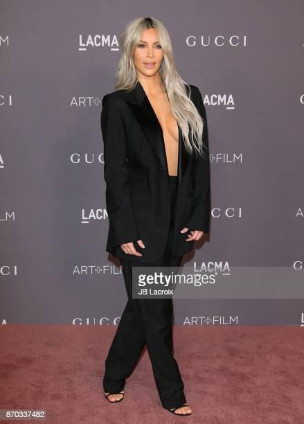 Kim Kardashian attends the LACMA Art + Film Gala honoring Mark Bradford and George Lucas on November 04, 2017 in Los Angeles, California.