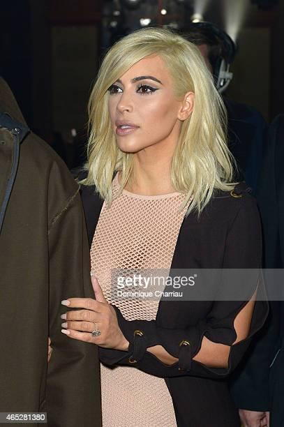 Kim Kardashian attends the Lanvin show as part of the Paris Fashion Week Womenswear Fall/Winter 2015/2016 on March 5 2015 in Paris France