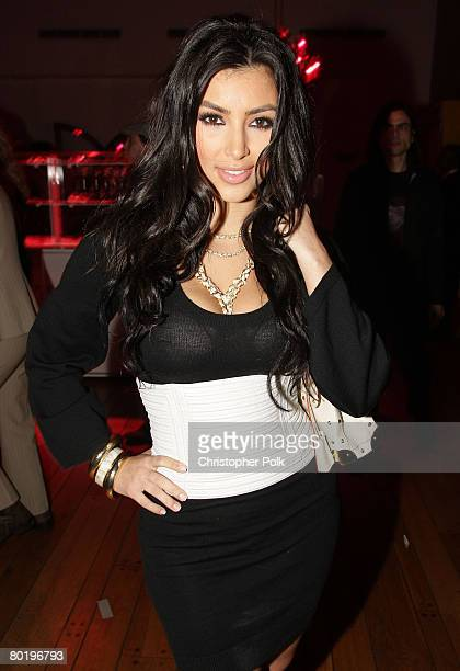 Kim Kardashian attends the launch of the new TMobile Sidekick LX at The Clubhouse on October 16 2007 in Los Angeles California