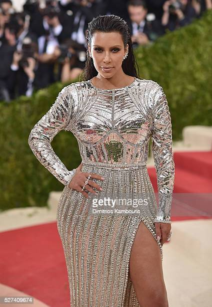 Kim Kardashian attends the 'Manus x Machina Fashion In An Age Of Technology' Costume Institute Gala at Metropolitan Museum of Art on May 2 2016 in...