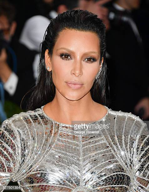 Kim Kardashian attends the 'Manus x Machina: Fashion in an Age of Technology' Costume Institute Gala at the Metropolitan Museum of Art on May 2, 2016...