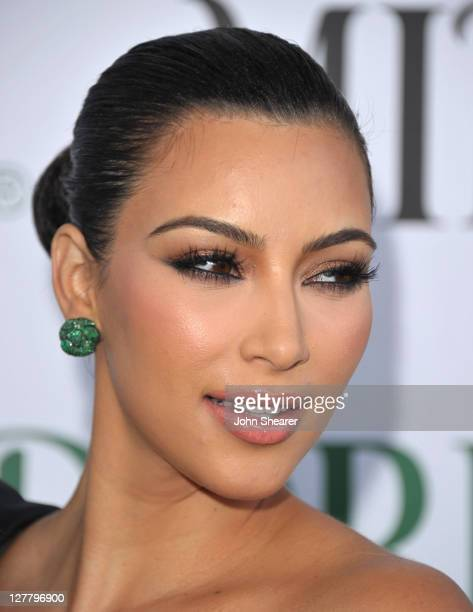 Kim Kardashian attends the Midori Melon Liqueur Trunk Show at Trousdale on May 10 2011 in West Hollywood California
