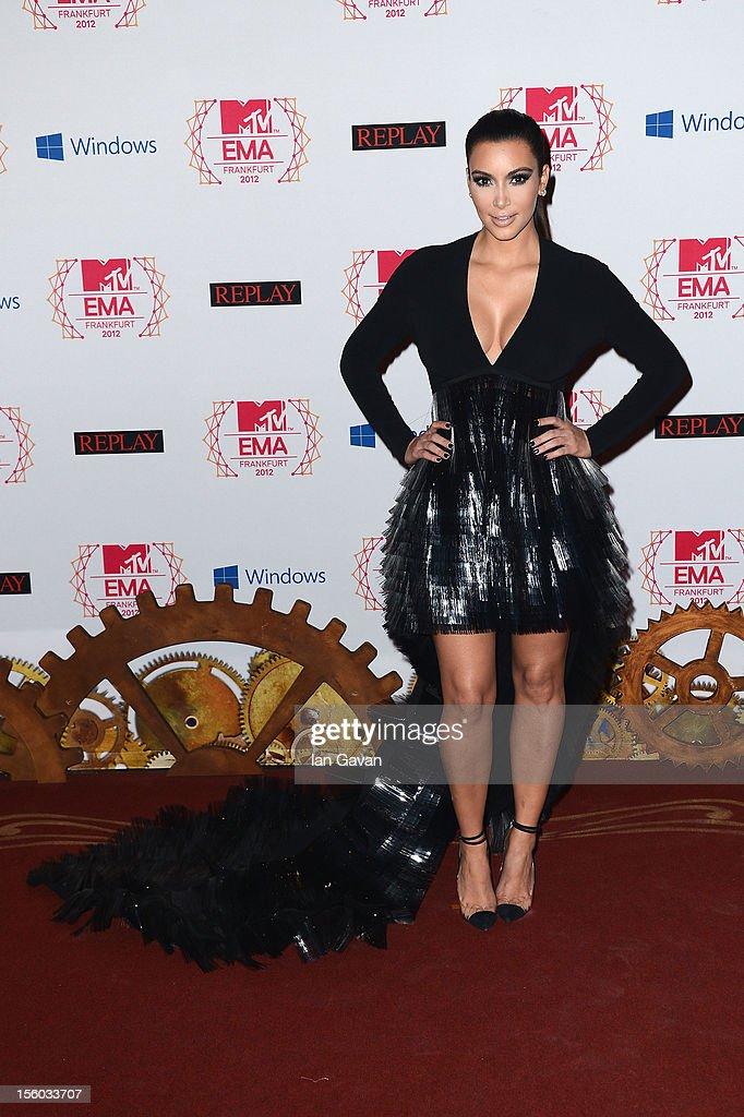 Kim Kardashianattends the MTV EMA's 2012 at Festhalle Frankfurt on November 11, 2012 in Frankfurt am Main, Germany.
