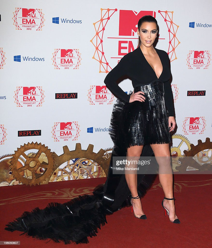Kim Kardashian attends the MTV EMA's 2012 at Festhalle Frankfurt on November 11, 2012 in Frankfurt am Main, Germany.