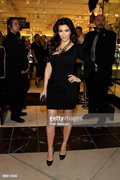 Kim Kardashian attends the premiere of her fragrance at Sephora on February 17 2010 in Los Angeles California