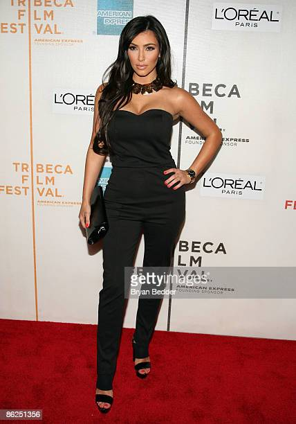 Kim Kardashian attends the premiere of Wonderful World during the 2009 Tribeca Film Festival at BMCC Tribeca Performing Arts Center on April 27 2009...