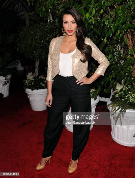 Kim Kardashian attends the QVC red carpet style party held at the Four Seasons Hotel Los Angeles on February 25, 2011 in Los Angeles, California.