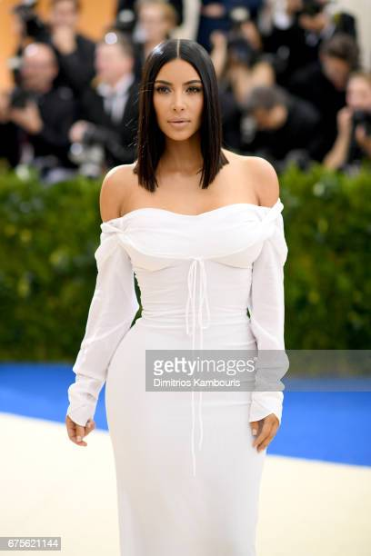 Kim Kardashian attends the Rei Kawakubo/Comme des Garcons Art Of The InBetween Costume Institute Gala at Metropolitan Museum of Art on May 1 2017 in...