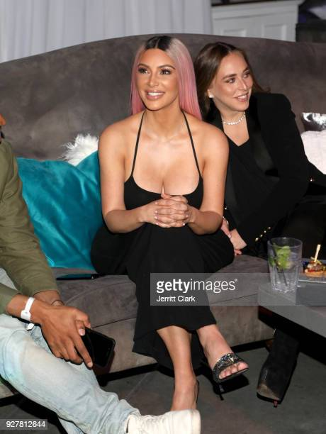 Kim Kardashian attends the release of Marina Acton's new single Fantasize at Boulevard3 on March 5 2018 in Hollywood California
