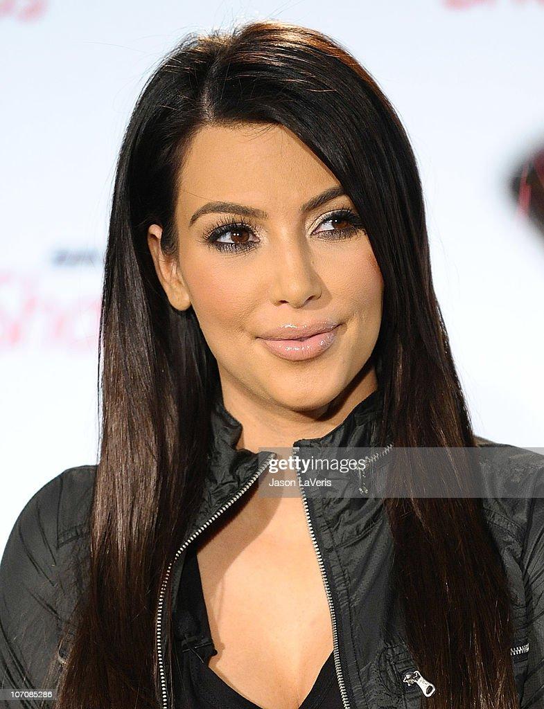 Kim Kardashian attends the Skechers global partnership