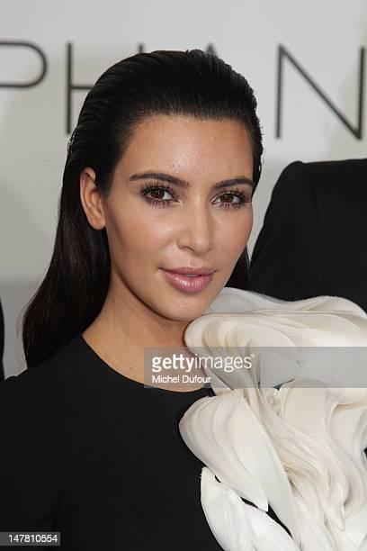 Kim Kardashian attends the Stephane Rolland HauteCouture Show as part of Paris Fashion Week Fall / Winter 2013 at Cite de l'Architecture et du...