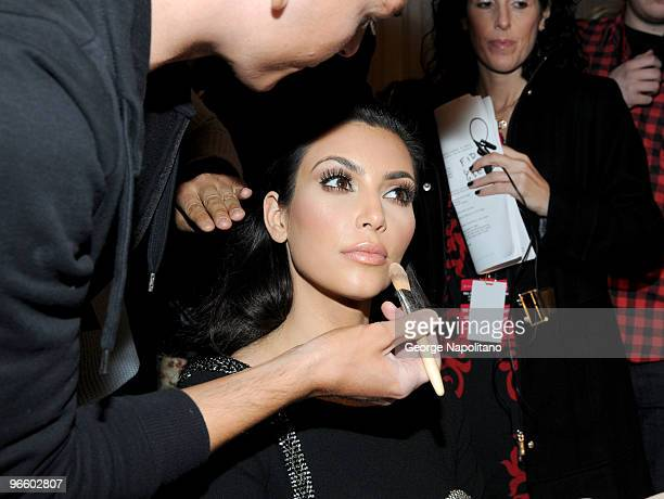 Kim Kardashian attends the The Heart Truth Red Dress Collection Fall 2010 fashion show during MercedesBenz Fashion Week at Bryant Park on February 11...