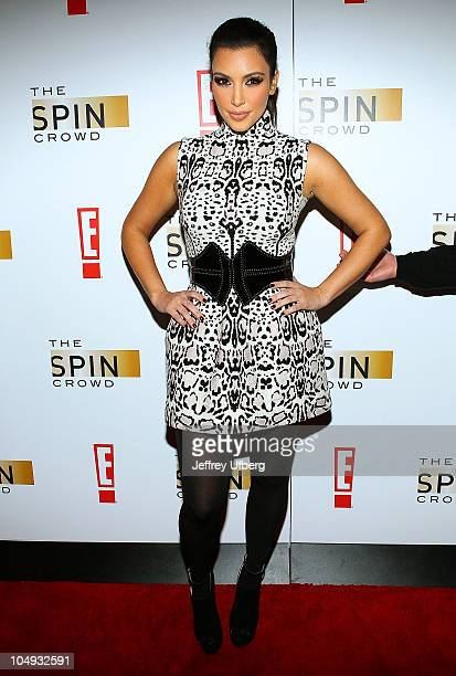 """Kim Kardashian attends the """"The Spin Crowd"""" Season Finale party at Provacateur on October 6, 2010 in New York City."""