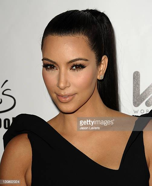 Kim Kardashian attends the World's Most Beautiful Magazine launch event at Drai's Hollywood on August 10 2011 in Hollywood California