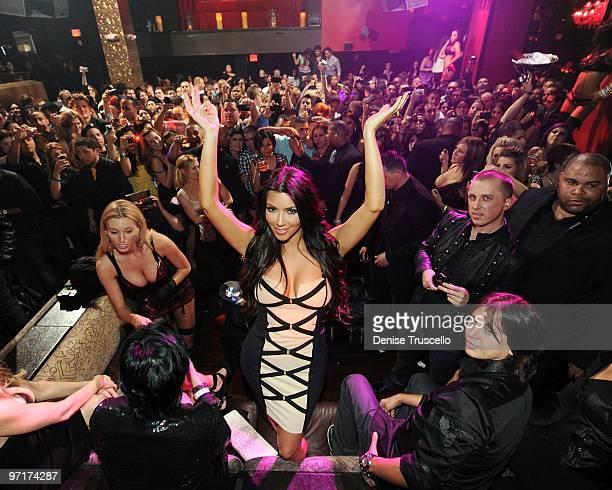 Kim Kardashian celebrates her fragrance launch at Tao Las Vegas at the Venetian Hotel and Casino Resort on February 27 2010 in Las Vegas Nevada