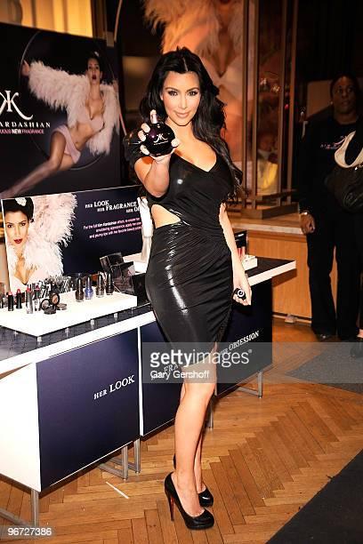 Kim Kardashian celebrates the launch of the new Kim Kardashian fragrance at Sephora on February 15 2010 in New York City