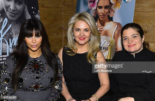 Kim Kardashian Cornelia Guest and Alexandra Guarnaschelli attend the DuJour Magazine Spring 2013 Issue Celebration at The Darby on March 27 2013 in...