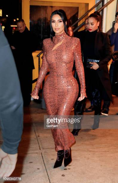 Kim Kardashian departs Cipriani on February 7 2019 in New York City