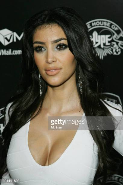 Kim Kardashian during House of Hype PreGrammy Party at Roosevelt Hotel in Hollywood California United States