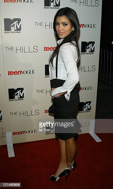 Kim Kardashian during Launch Party to Celebrate the Second Season of the MTV Series 'The Hills' at Area in Hollywood California United States