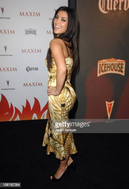 Kim Kardashian during Maxim's 8th Annual Hot 100 Party Arrivals at The Gansevoort Hotel in New York City New York United States