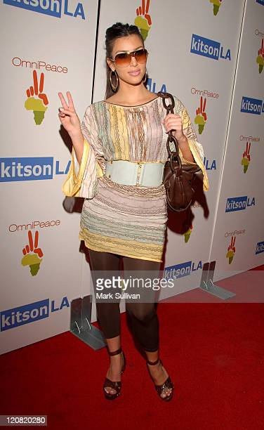 Kim Kardashian during OmniPeace Launch Party Arrivals at Kitson Men in Los Angeles California United States