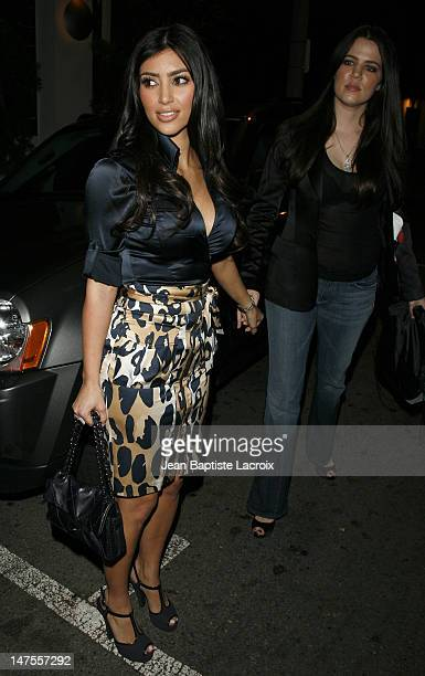 Kim Kardashian during Paris Hilton Josh Henderson and Kim Kardashian Depart Area Nigthclub April 10 2007 at Area Nigthclub in West Hollywood...