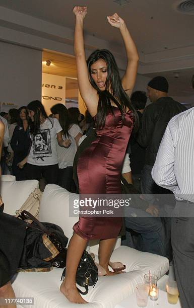 Kim Kardashian during PLAYSTATION 3 Launch Inside at 9900 Wilshire Blvd in Los Angeles California United States