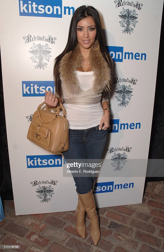 Kim Kardashian during The Retribution Launch Party and Trunk Show at Kitson Men at Kitson Men in Beverly Hills, California, United States.